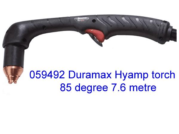 059492 Hypertherm Duramax  Hyamp Hand Plasma cutting torch 85 Degree , 7.6m