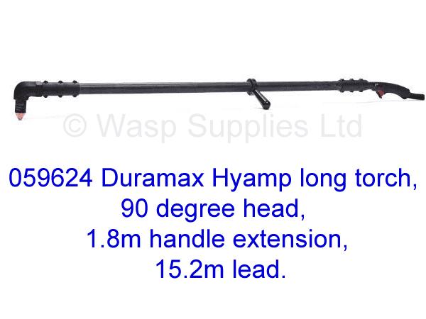 059624 Hypertherm Hyamp long torch 90 degree, 1.8m handle 15.2m lead .