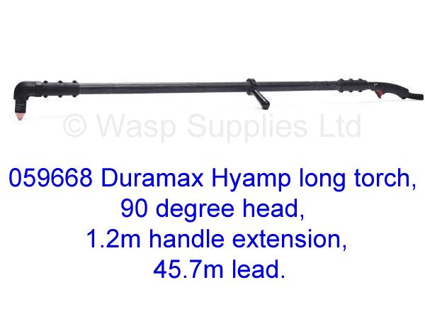 059668 Hypertherm Hyamp long torch 90 degree, 1.2m handle 45.7m lead .
