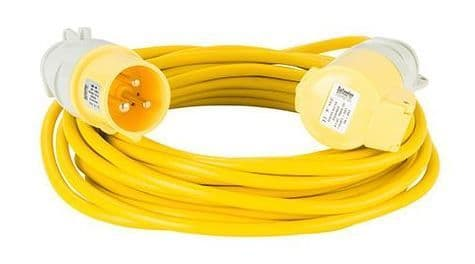 110volt 16amp 10 metre 1.5mm cable, extension lead yellow .