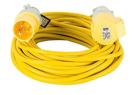 110volt 16amp 14 metre 2.5mm cable, extension lead yellow .
