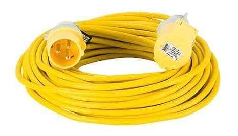 110volt 16amp 25 metre 1.5mm cable, extension lead yellow .