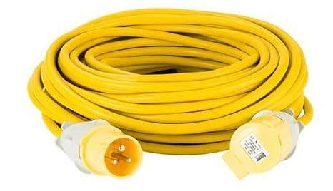 110volt 16amp 25 metre 2.5mm cable, extension lead yellow .
