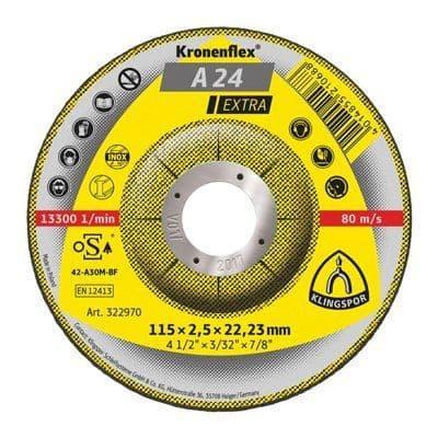115 x 2.5 mm Cutting disc, Klingspor A 24 Extra