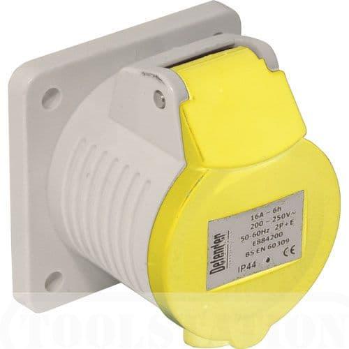 16 amp 110 volt yellow panel socket