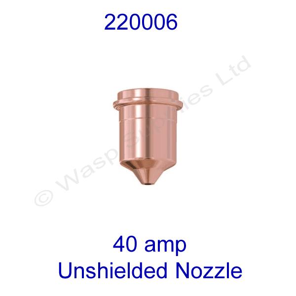 220006 Hypertherm unshielded 40amp  Plasma cutting nozzle powermax 1000 pk 5