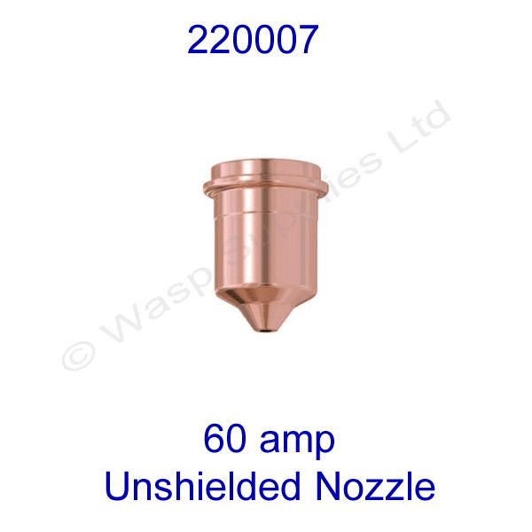 220007 Hypertherm unshielded 60amp  Plasma cutting nozzle powermax 1000 pk 5
