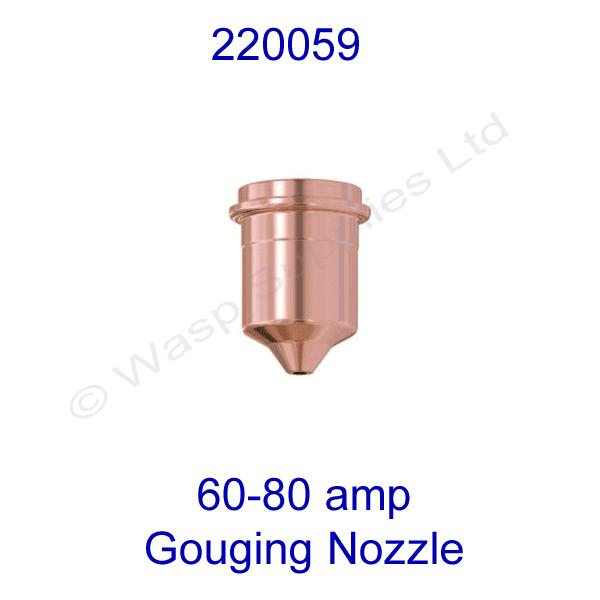 220059 Hypertherm 60-80 amp  Plasma gouging nozzle powermax 1650 pk 5