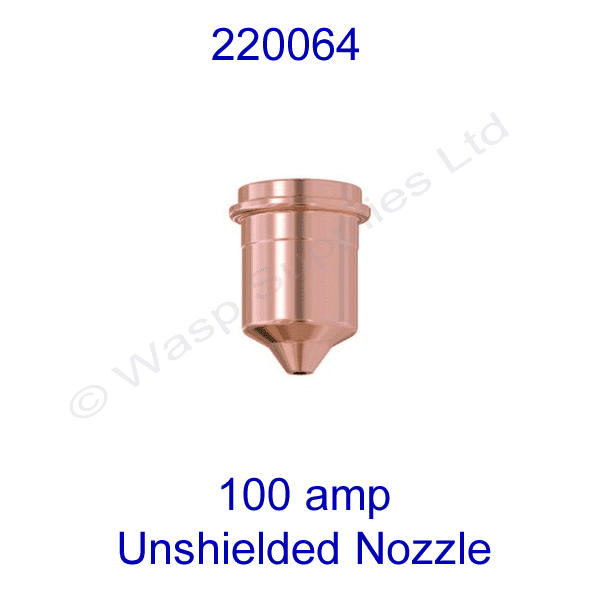220064 Hypertherm unshielded 100amp  Plasma cutting nozzle powermax 1650 pk 5