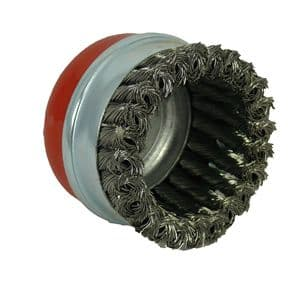 65mm x M14 thread , Mild steel Twist Knot Cup Brush