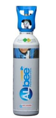 Albee 11 litre Oxygen Rental free Gas Cylinder and gas. INITIAL PURCHASE