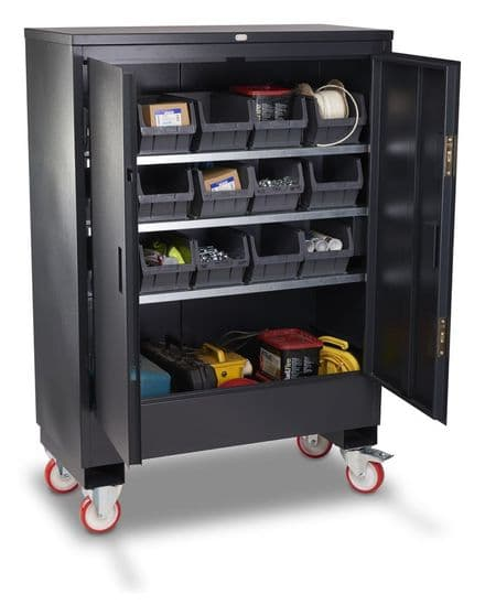 Armorgard Fittingstore, mobile secure storage cabinet.