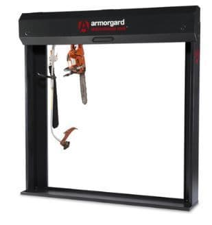 Armorgard Strimmersafe vault and rack.