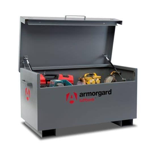 Armorgard Tuffbank, mid range best selling site storage solution.