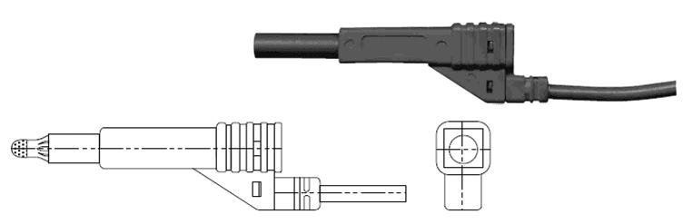 Bymat 1125KS 2 Metre Black Cable