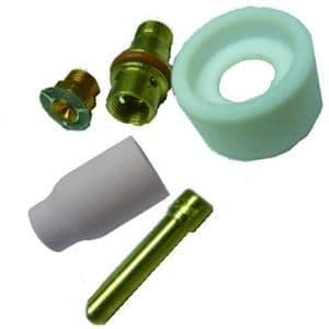 CK 4 series complete Stubby Alumina cup gas saver kit, select correct tungsten size .