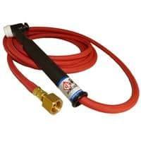"CK17 Rigid head gas cooled tig torch, 1 pce 4m superflex cable 150 amps 100% rated, 3/8"" BSP."