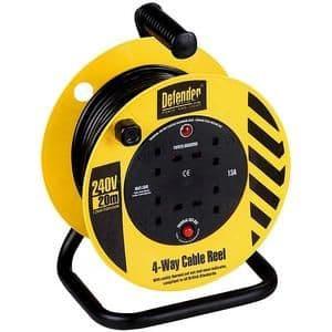 Defender E86465 20m 240 volt Light Industrial Cable reel