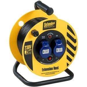 Defender E86475 25m 240v Light Industrial cable reel