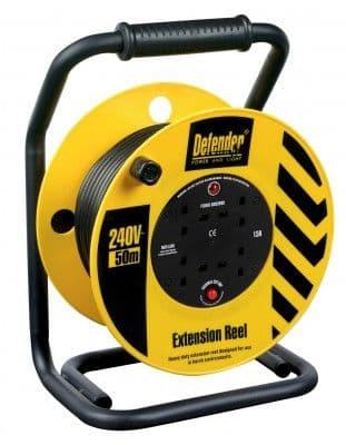 Defender E86515 50M 240v Industrial cable reel