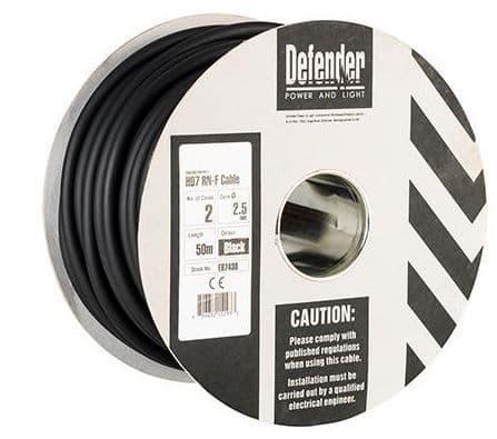 Defender E87430 2.5mm² 2 core 50m 110 / 240V Rubber