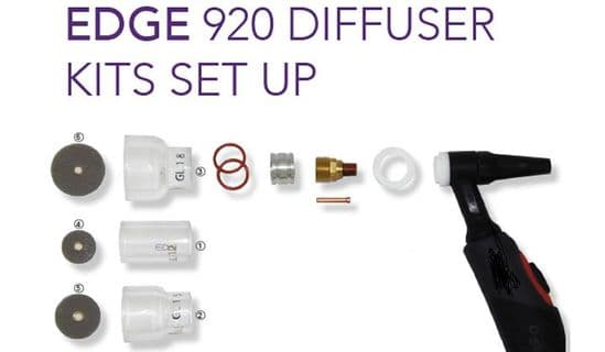 Edge 920 Diffuser kit set up