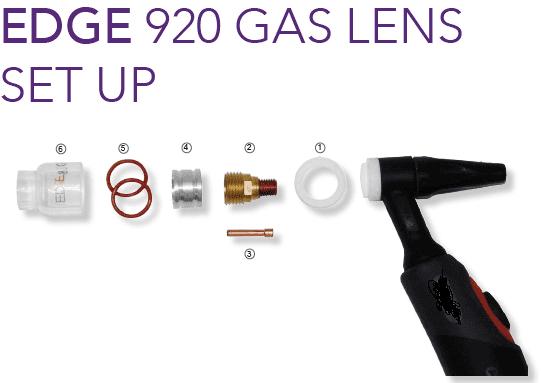 Edge 920 Gas lense glass  cups & spares.