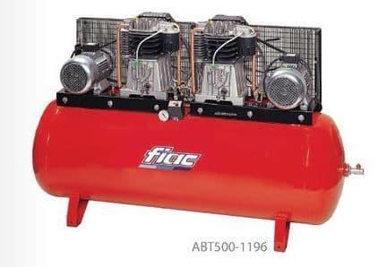 Fiac belt drive duplex ABT500-1196 2x5.5 HP, 400V, 500 litre tank Compressor