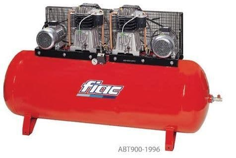 Fiac belt drive duplex ABT900-1996 2x10.0 HP, 400V, 900 litre tank Compressor