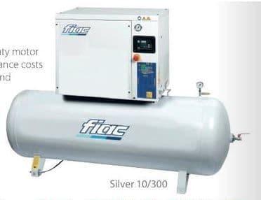 Fiac Silver 10/300 10.0 HP, 270 Litre tank, 400V Screw Compressor