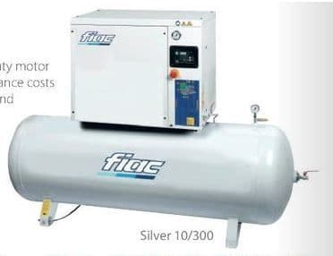Fiac Silver 15/300 15.0 HP, 270 Litre tank, 400V Screw Compressor