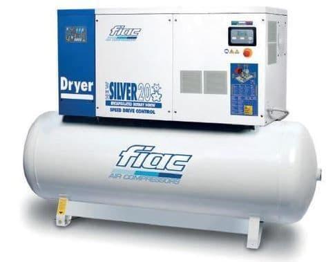 Fiac Silver D 15/300 SD 15.0 HP, 270 Litre tank, 400V Inverter Compressor