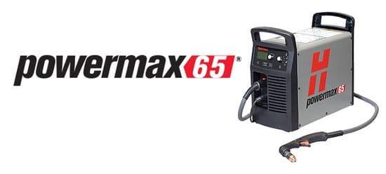 Hypertherm Powermax65 plasma cutting machines 32mm capaxity,