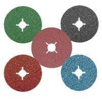 Linishing (sanding) discs, Roloc style quick change discs.