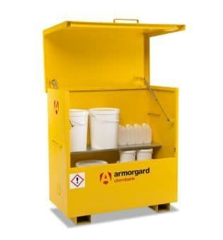 Lockable storage solutions for chemicals