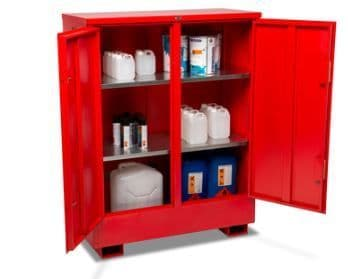 lockable vaults for both flammable and hazardous chemical storage