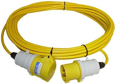 110 volt Trailing Extension leads yellow 16 and 32 amp.