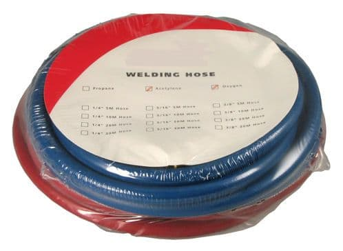 Oxygen/Acetylene 3/8 fitted welding hose sets 8mm bore