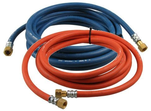 Oxygen / propane fitted welding hose sets 8mm bore
