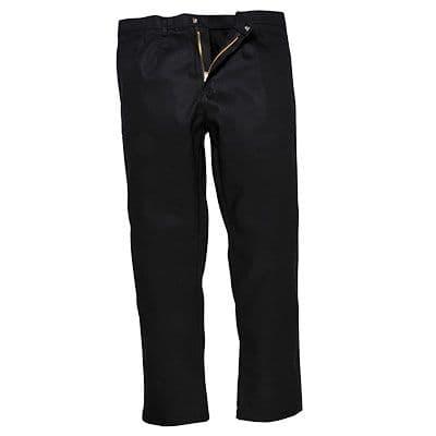 Portwest BZ30 Bizweld Flame Retardant Trousers ~ Black