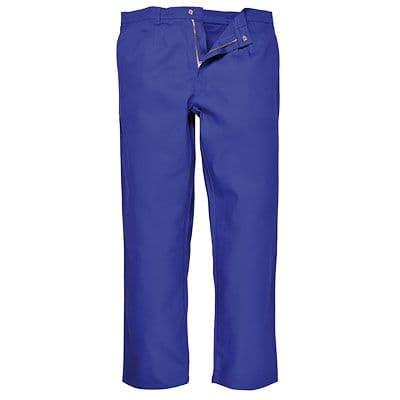 Portwest BZ30 Bizweld Flame Retardant Trousers ~ Royal Blue