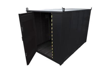 Walk in flammable equipment and hazchem storage units.