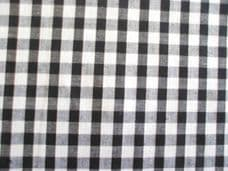 "1/4"" Gingham Quality Polycotton Fabric in Black"
