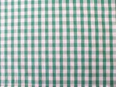 "1/4"" Gingham Quality Polycotton Fabric in Green"