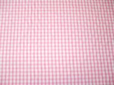 "1/4"" Gingham Quality Polycotton Fabric in Pink"