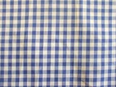 "1/4"" Gingham Quality Polycotton Fabric in Royal Blue"
