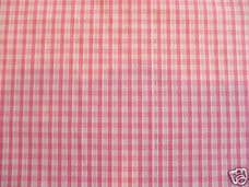 """1/8"""" Gingham Quality Polycotton Fabric in Pink"""