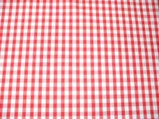 """1/8"""" Gingham Quality Polycotton Fabric in Red"""
