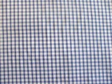 """1/8"""" Gingham Quality Polycotton Fabric in Royal Blue"""