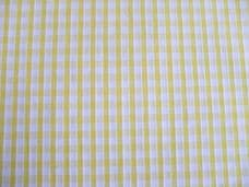 """1/8"""" Gingham Quality Polycotton Fabric in Yellow"""
